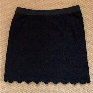 Black lace j. Crew skirt